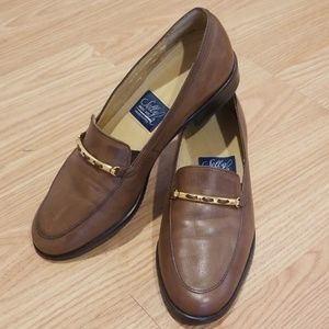 SELBY BROWN PENNY LOAFERS (SIZE 5)